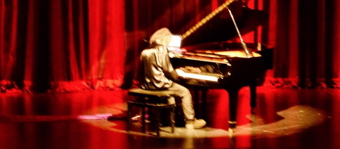 Fernando Antonio dos Santos Composer and Pianist at Live concert Eclipsis